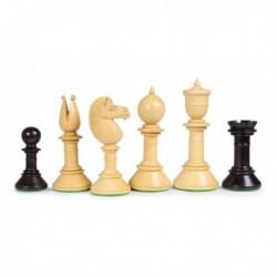 Piezas de ajedrez Northern Upright negras
