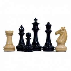 Staunton Meghoot Black Chess Pieces