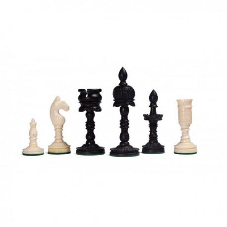 Piezas de ajedrez Temple Carved de hueso