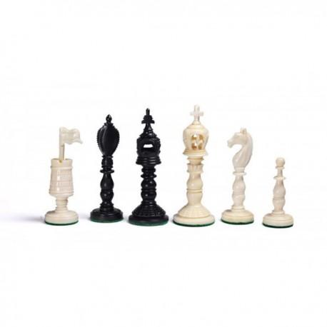 Piezas de ajedrez Euroburmese de hueso