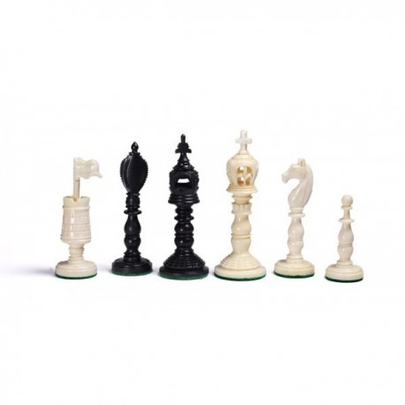 Euroburmese bone chess pieces