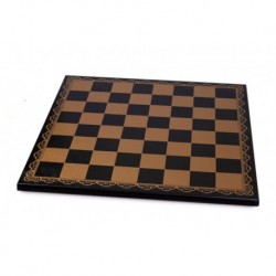 Black leather chessboard