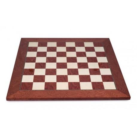 Tablero de ajedrez de arce rojo (casillas 45 mm)