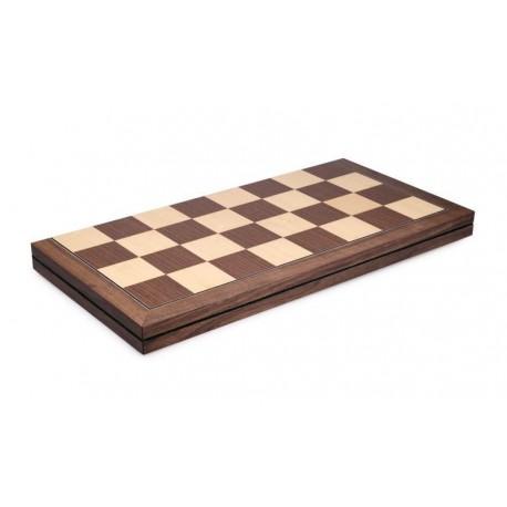 Tablero de ajedrez nogal plegable (casillas 55 mm)