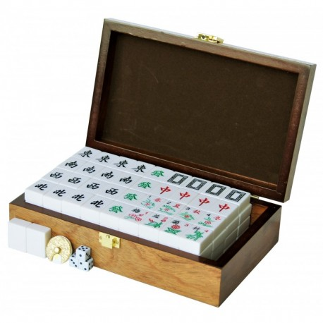 Mahjong Clásico Marfil Marcado