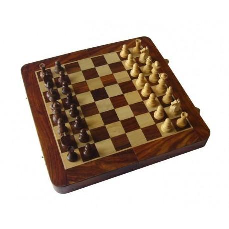 Ajedrez/Backgammon de Palisandro 25cm