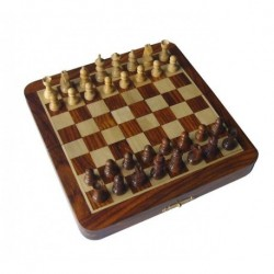 Palisander Foldable Magnetic Chess 17cm