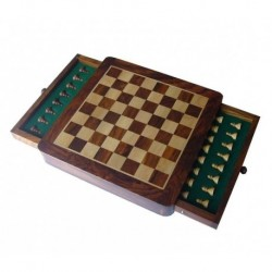 Magnetic Rosewood Chess 23cm