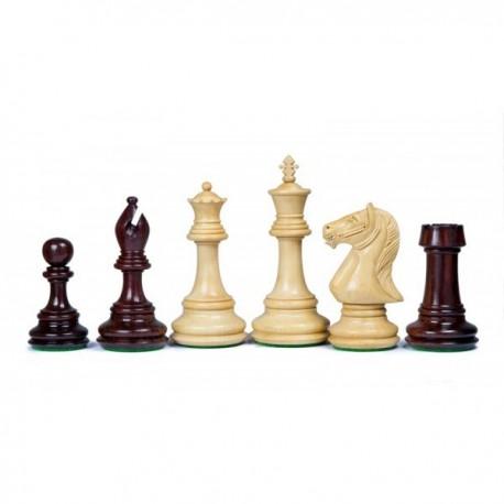 Piezas de ajedrez Bevelled de palo de rosa