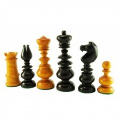Calvert Dublin Knight Yellow Finish Chess Pieces