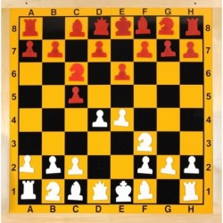 Folding magnetic wall chessboard