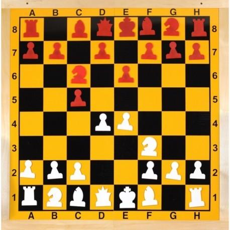 Tablero de ajedrez mural magnético plegable