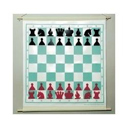 Tablero de ajedrez mural magnético plegable enrollable