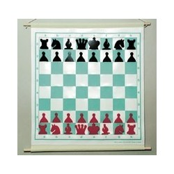 Rollable folding magnetic wall chessboard