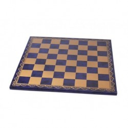 Blue leather chessboard