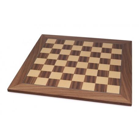 Tablero de ajedrez nogal clásico (casillas 55 mm)