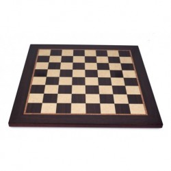 Satin rosewood-maple chessboard (boxes 50 mm)