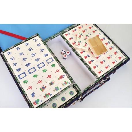 mahjong de hueso y de bambu
