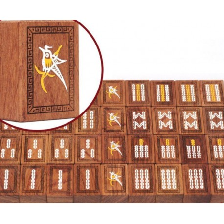 Mahjong Little Furniture Red Rosewood