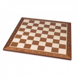 Tablero de ajedrez de madera teñido de caoba marcado (50 mm)