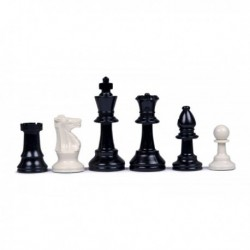 Plastic chess pieces emplooned and inf futures No. 5