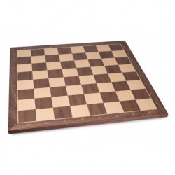 Walnut Chess Board No. 5 with letters and figures