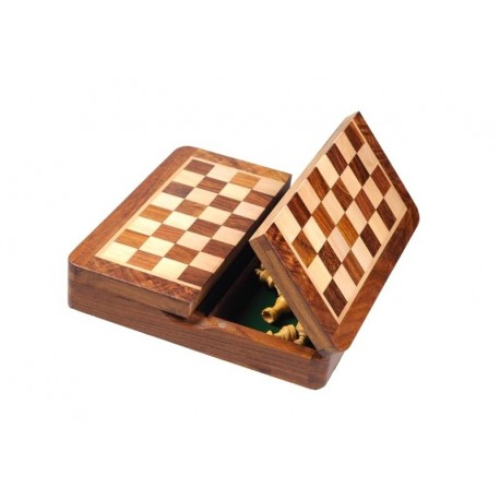 Magnetic Rosewood Chess 19cm