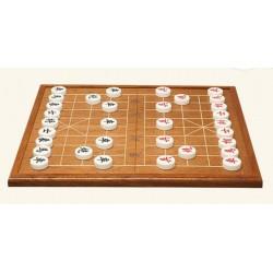 Conjunto Xiang Qi en palo de rosa y piezas en acrilico 2.8 cm
