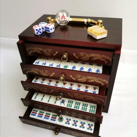 Mahjong Tradicional Mini - Madera y Resina