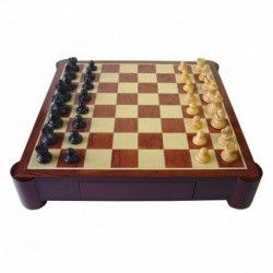 Red Rosewood and White Palisander Chess Game