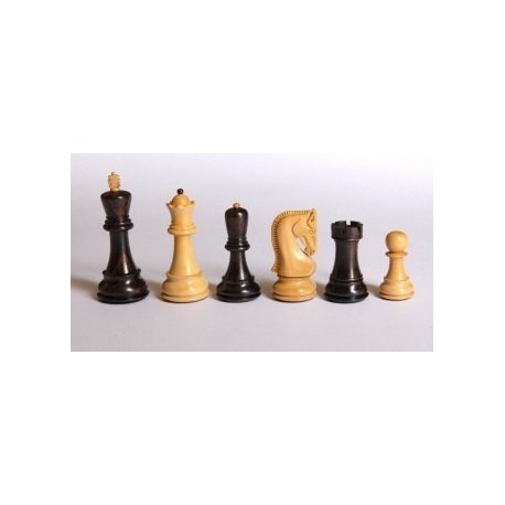 Palisander Chess Pieces - Russian Style
