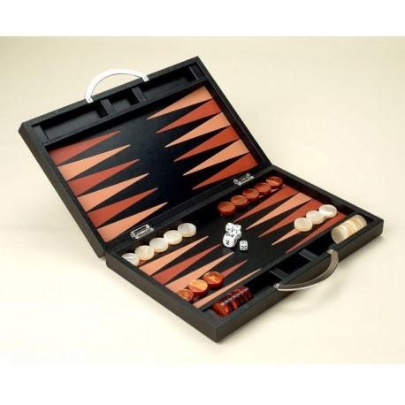 Backgammon de Cuero - Deluxe Set
