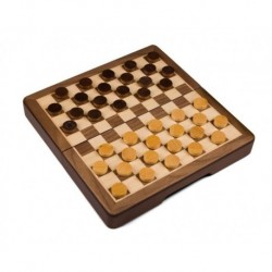 Wooden Checkers - Magnetic.