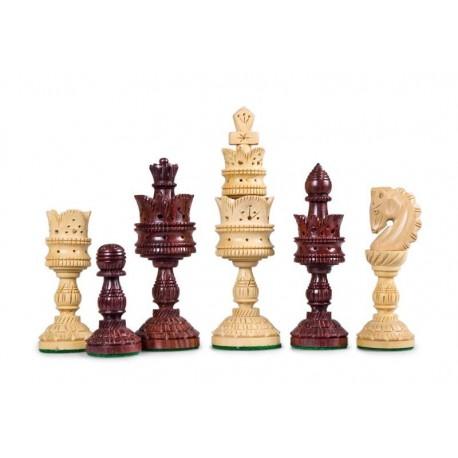 Palisandro Lotus Chess Pieces