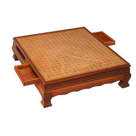 Mesa de Go de madera de Palo de Rosa 15cm