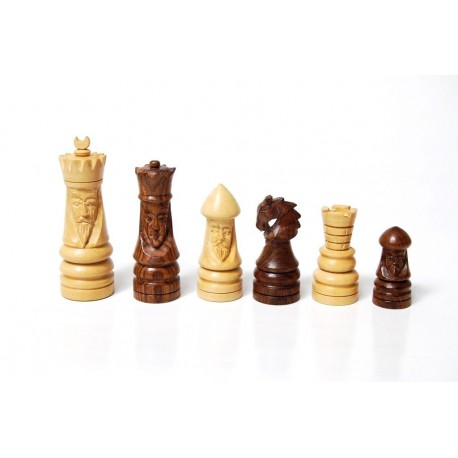Medieval Artistic Chess Pieces - Palisandro