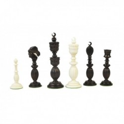 Crescent Moon Design Chess Pieces